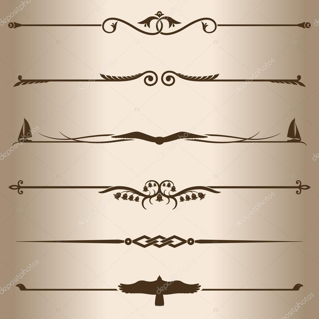 decorative lines stock vector zadvinskii 44545793