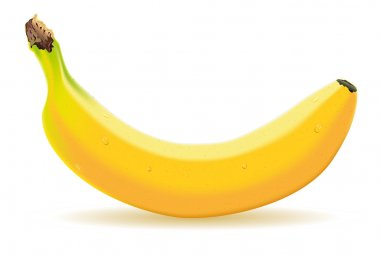 One banana with drops