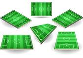 Fényképek Készlet-ból hat különböző pozíciókban foci