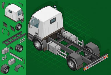 isometric truck solo driving