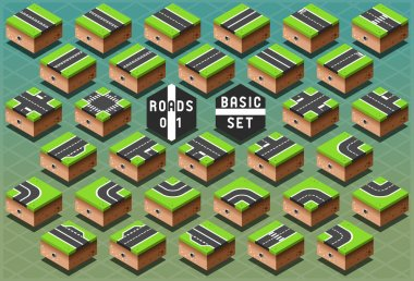Isometric Roads on Green Terrain