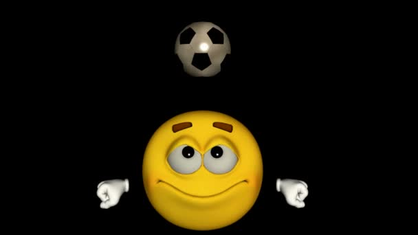 Opakování animace emotikon: fotbal