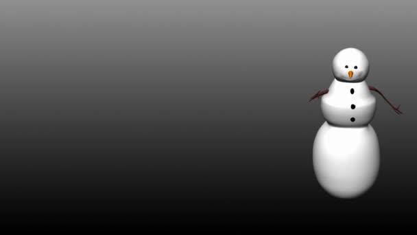 sněhulák chůze