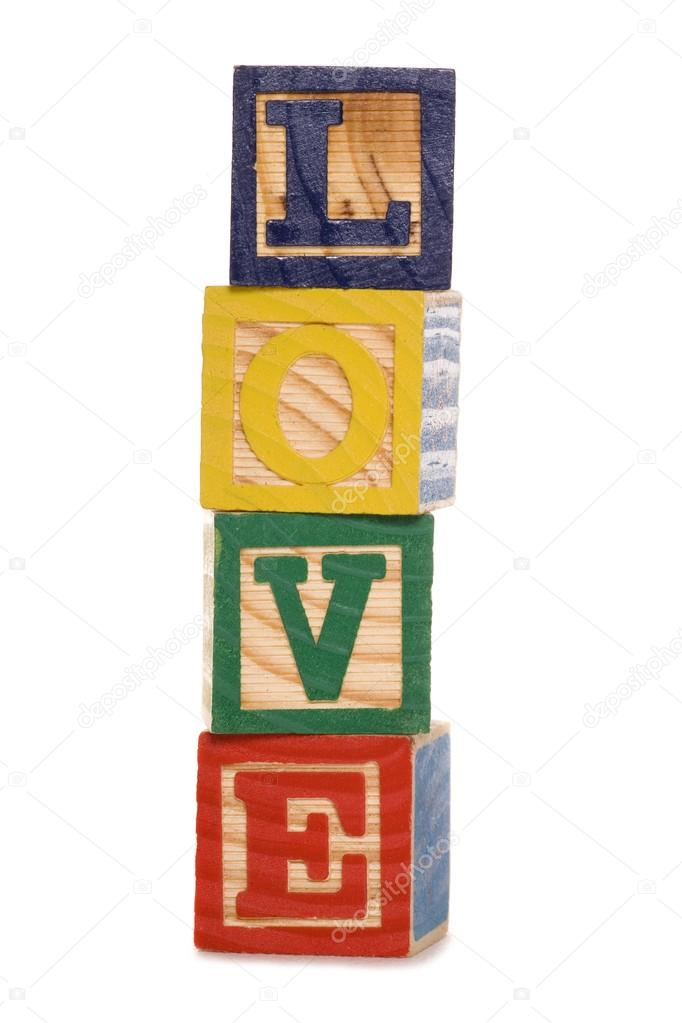 Love Wooden Blocks Stock Photo Chrisbrignell 13399140