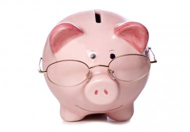wise money saving piggy bank cut out