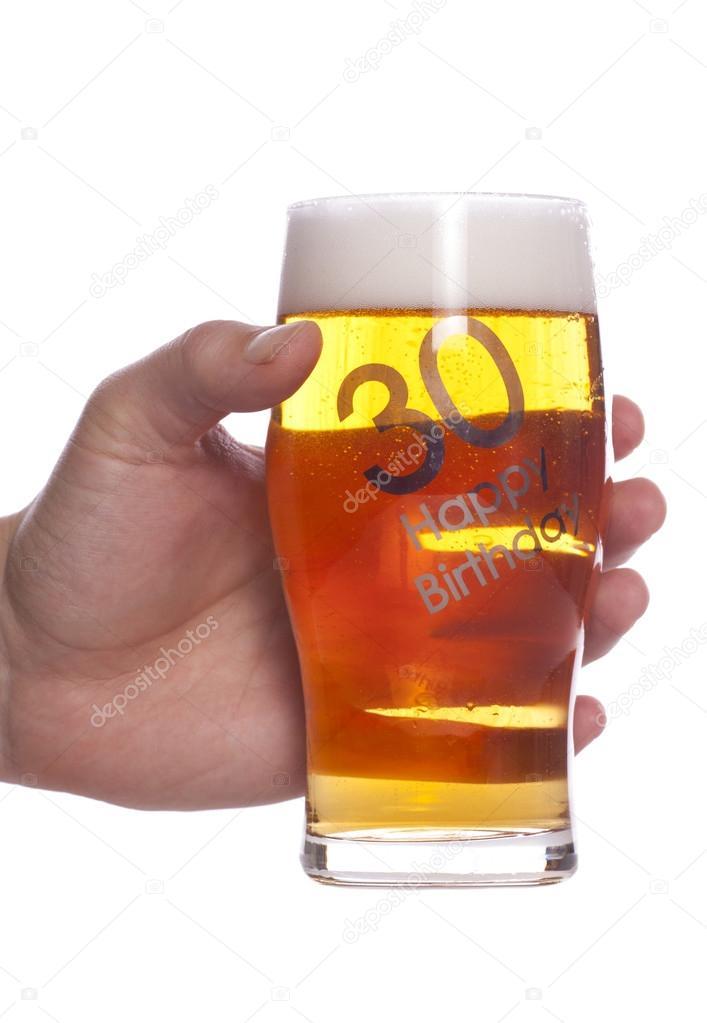 30 Verjaardagsviering Bier Stockfoto C Chrisbrignell 35840875