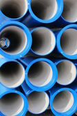 Photo concrete pipes for transporting water and sewerage