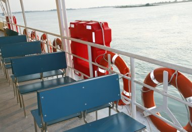 Ferry ship to transport tourists in Venice
