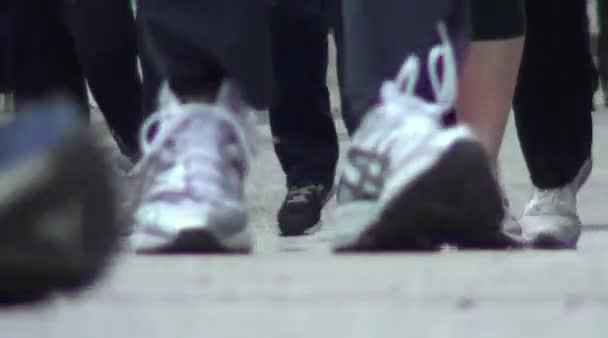 runner in sneaker around the city