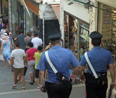 Police on patrol over the rialto bridge