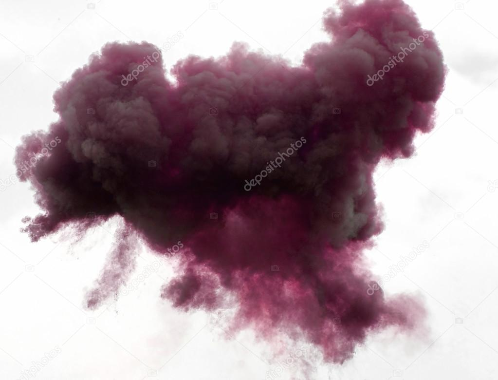 immense magenta cloud in the sky above with smoke and abstract c