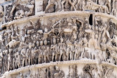 beautiful high-reliefs sculpted in Trajan's column in Rome