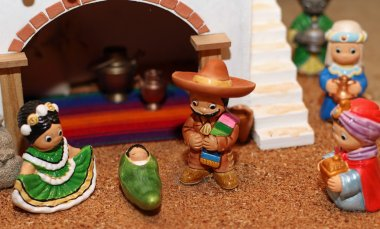 Manger with the Holy Family in Mexican version 1
