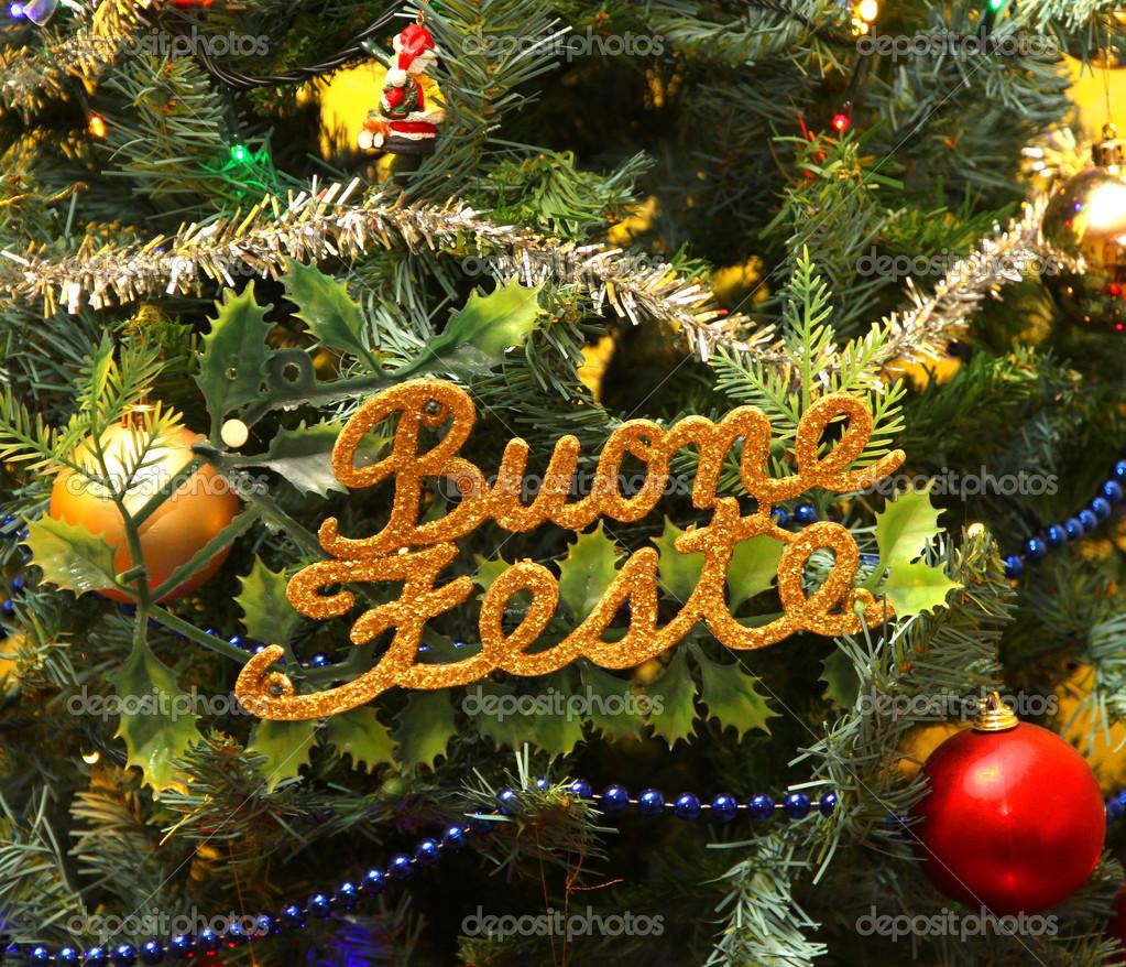 Erholsame Ferien In Den Weihnachtsbaum In Italienisch Geschrieben
