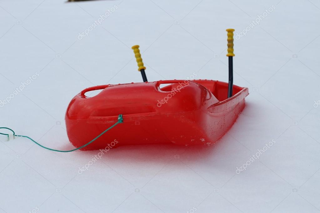 bob made of sturdy plastic on white snow for fun rides on the  m