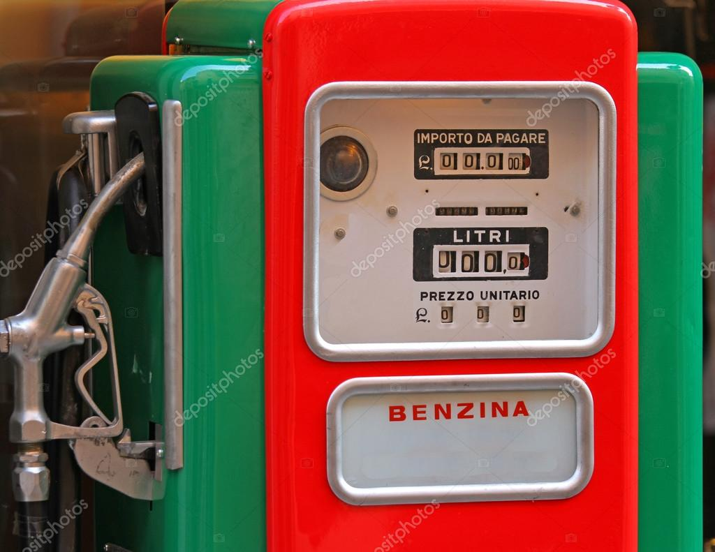Old gas pump to a gas station — Stock Photo © ChiccoDodiFC