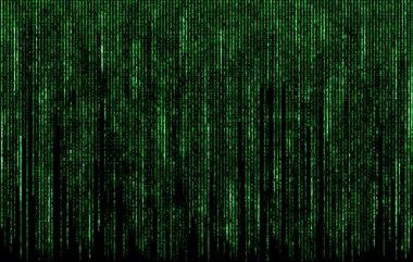 Green digital  code numbers in matrix style