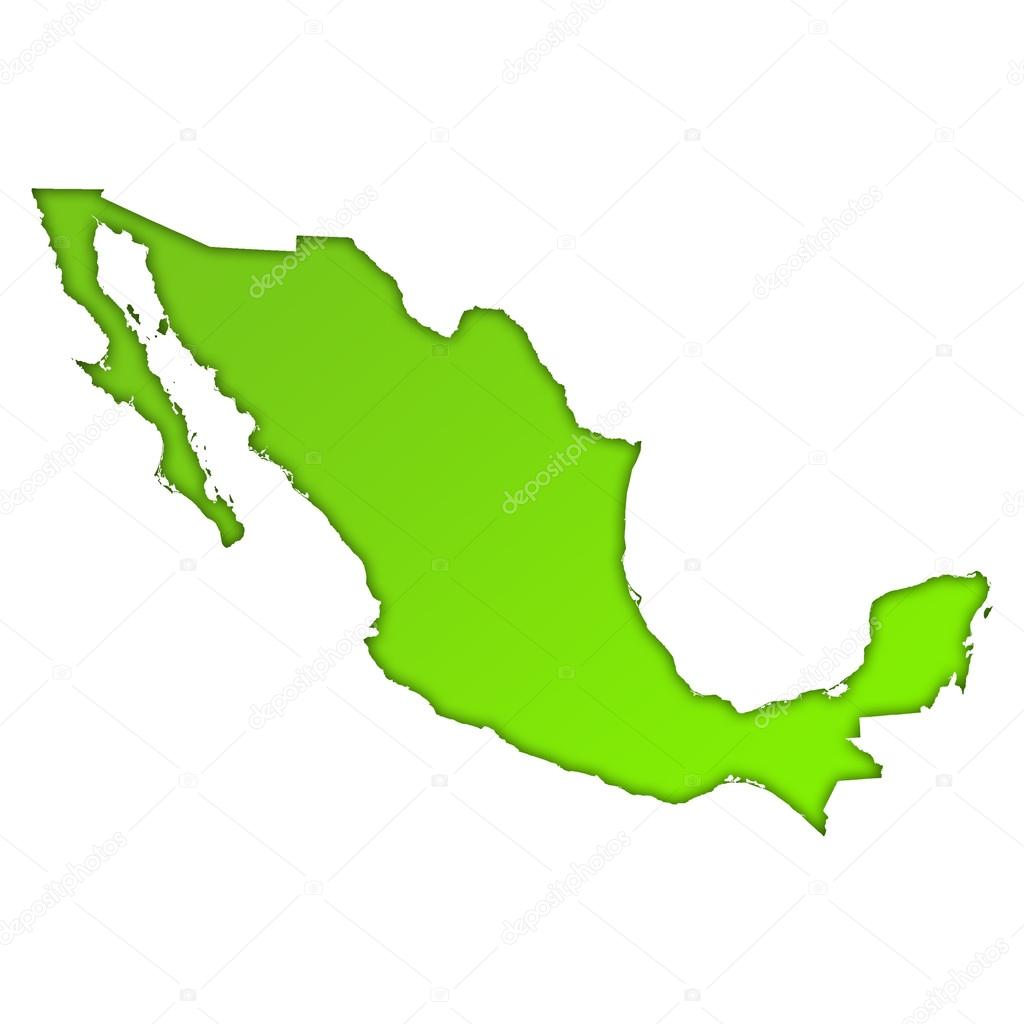 mexico country map icon stock photo