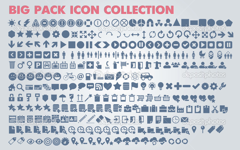 Collection Of Universal Icons And Symbols For Web And Mobile Vector