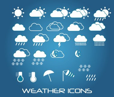 Collection of mobile weather icons, vector