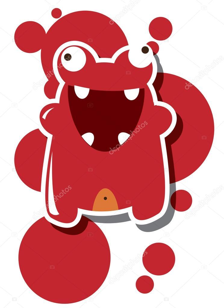 Buon Compleanno Mostro O San Valentino Card Con Monster Carino