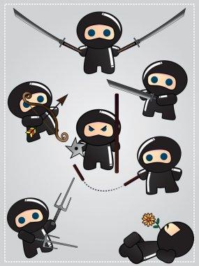 Cartoon ninja warriors