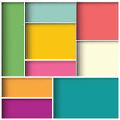 Abstraktní 3d čtverečních pozadí, barevné dlaždice, geometrické, vektorové ilustrace