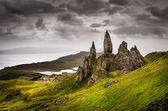 Krajina pohled starého muže storr skalní útvar, Skotsko