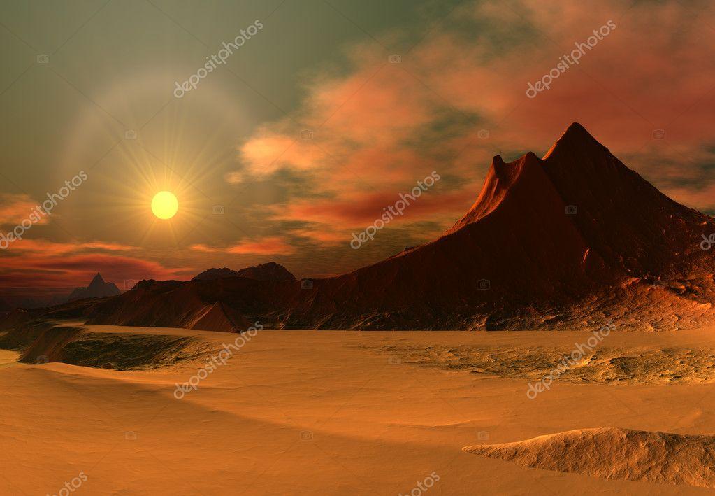 Fantasy Landscape With A Desert