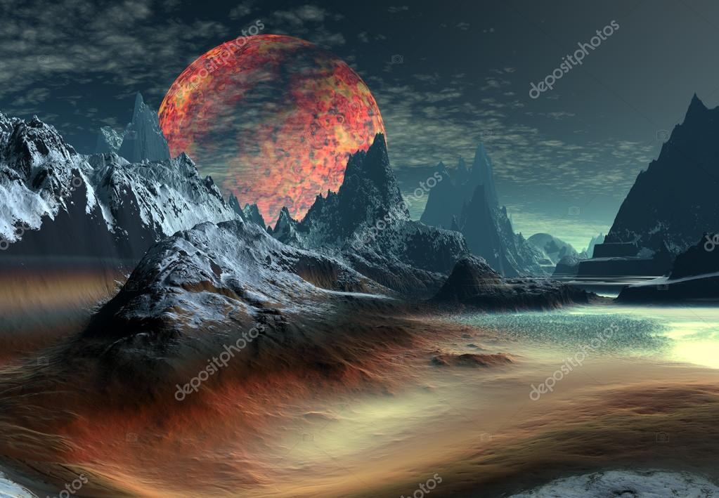 Alien Planet, Computer Artwork