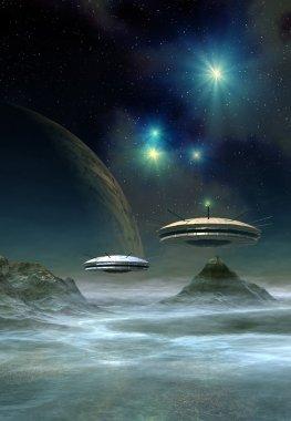 Alien Planet, Computer Artwork