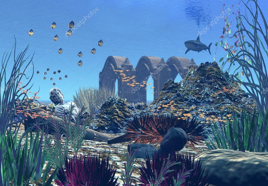 Fantasy Ocean Scene - Computer Artwork