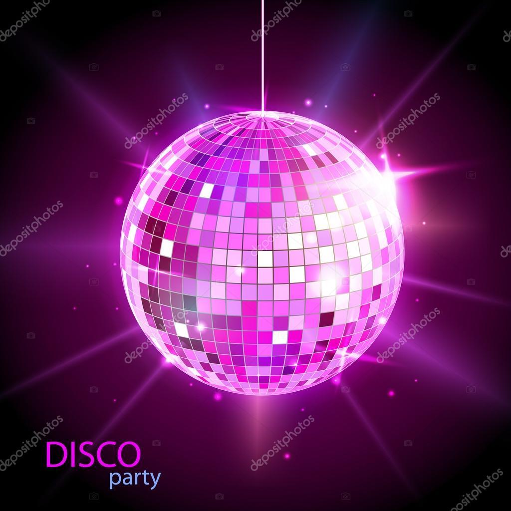 Bola de discoteca fondo discoteca vector de stock - Bola de discoteca de colores ...