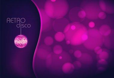 Disco ball. Disco background stock vector