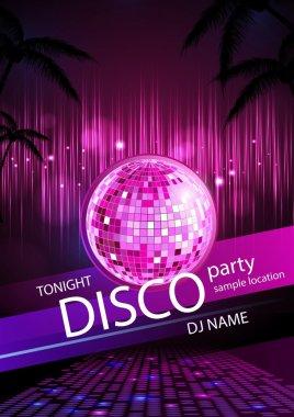 Disco background. Disco poster stock vector