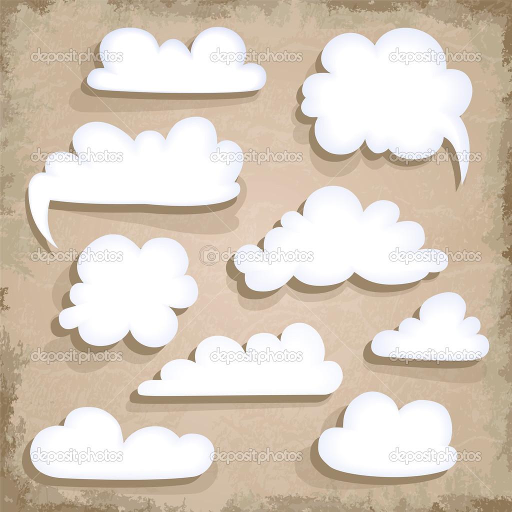 Paper Speech Bubble. Cloud