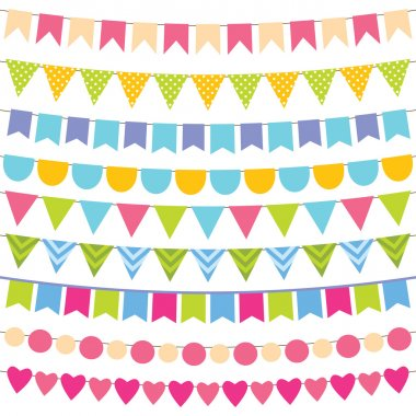 Colorful bunting collection