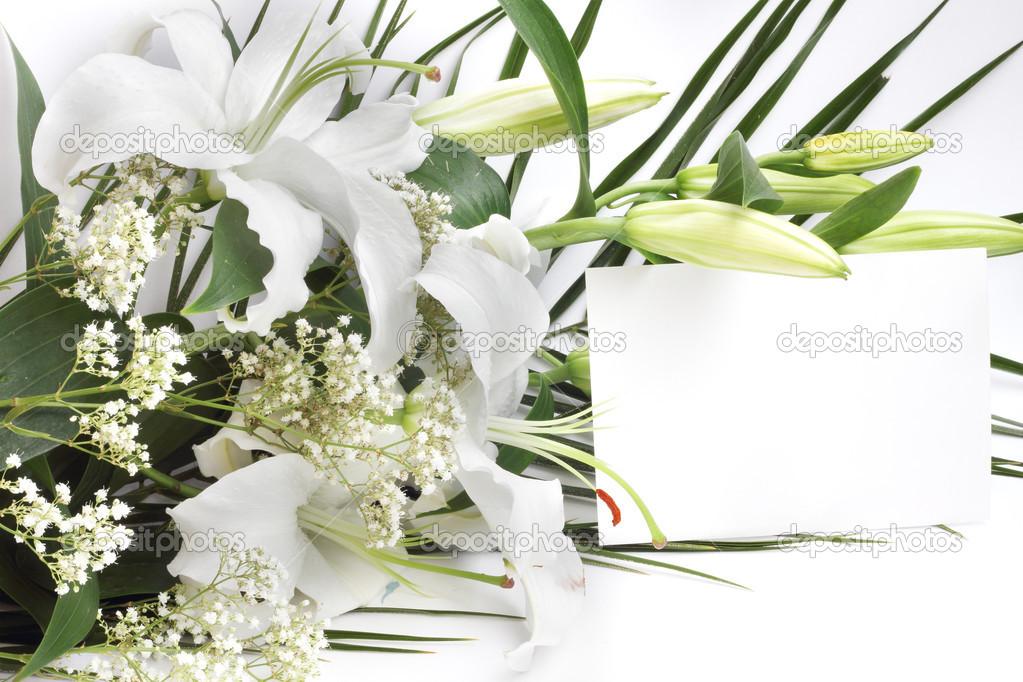 Открытки лилии цветы