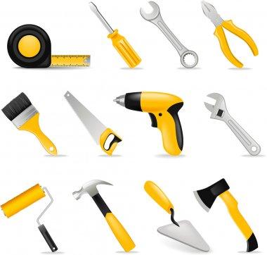 Tools set stock vector