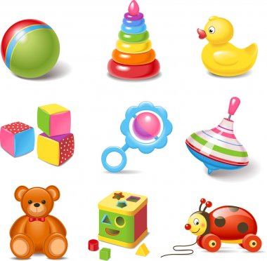 Toy icons stock vector
