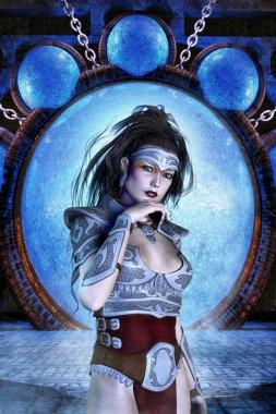 Fantasy barbarian girl