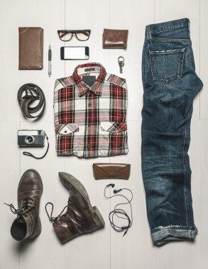Overhead of essentials modern man.