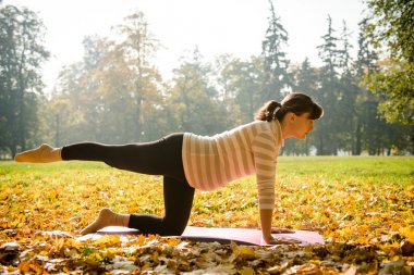 Healthy pregnancy - exercising outdoor