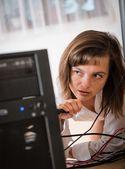 Fotografie Hardware-Probleme - Frau Reparatur computer