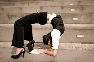 Flexible business - woman with notebook