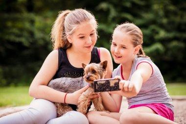 Children and dog