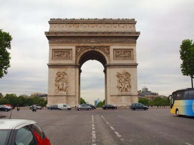 Europe famous places: Triumph arch in Paris city