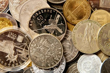 Coins of different countries. coin collection