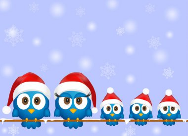 Cute christmas birds