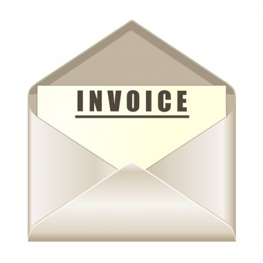 Envelope with invoice document